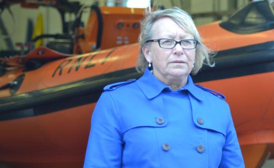 Sheryll Murray and RNLI Commercial fishing safety campaign