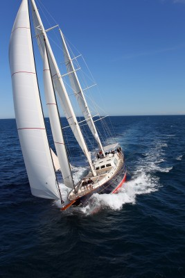 Kestrel 106 under sail