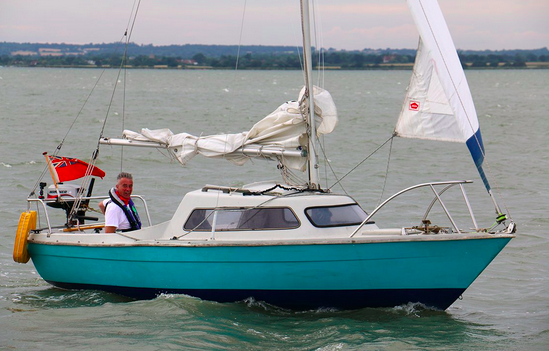 Dave Selby on his boat
