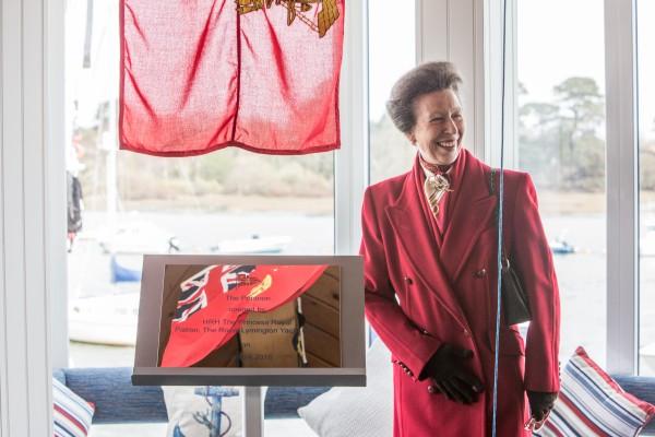Princess Anne opens the new pontoon at Royal Lymington Yacht Club