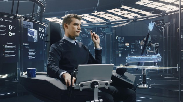 An operator at the land based control centre