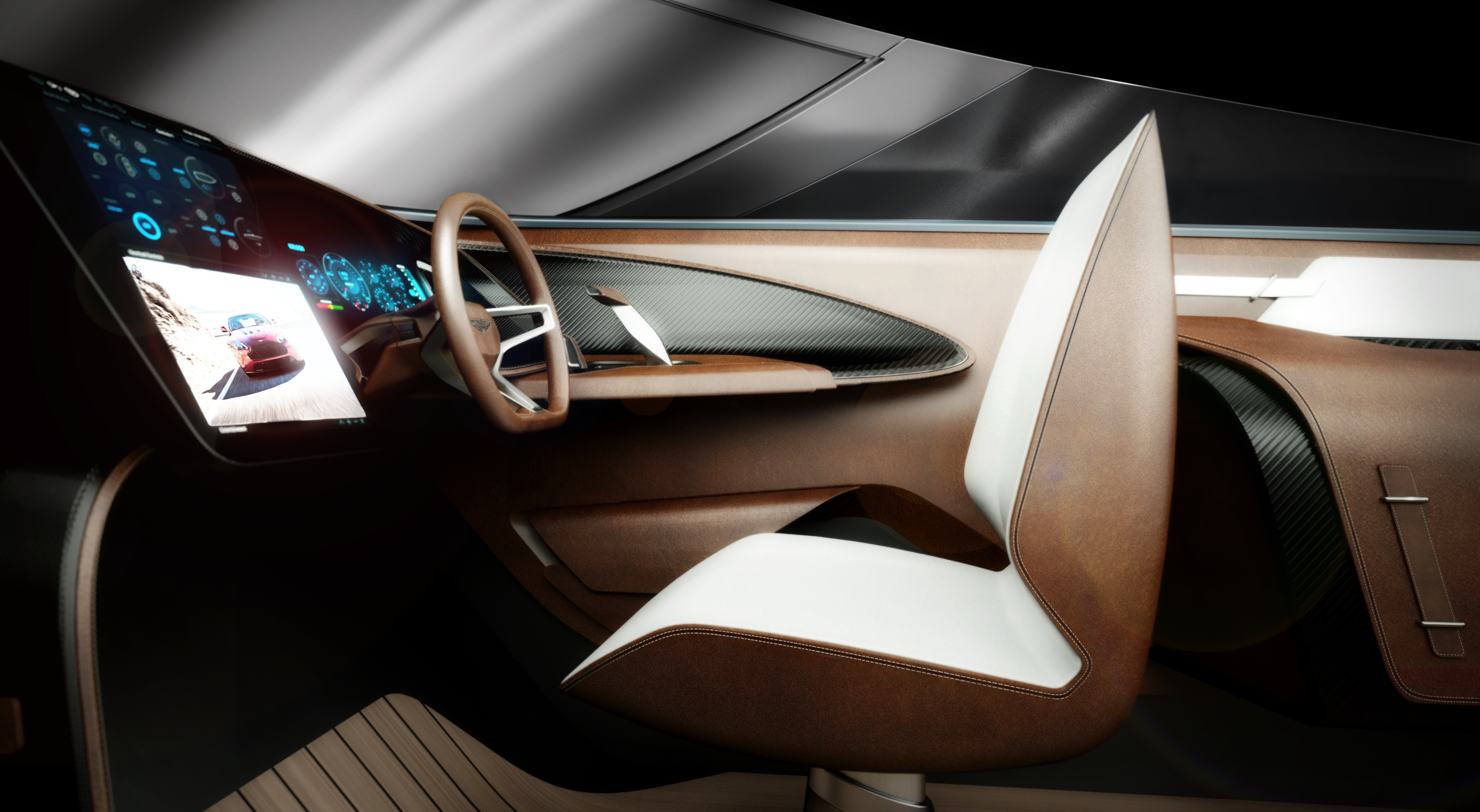 The Cockpit Of The Am37 Powerboat By Aston Martin And Quintessence Ybw