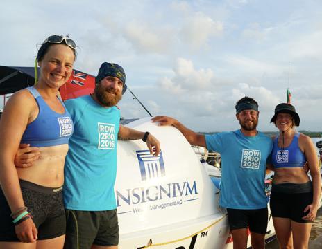 Row2Rio team land in Brazil