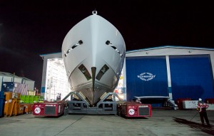 The impressive bow of the Sunseeker 155 Yacht