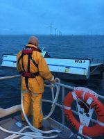 Catamaran sinks after hitting turbine