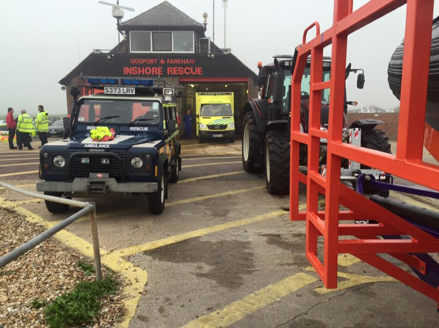 Gosport & Fareham Inshore Rescue Service go to aid of man with head injuries
