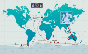 The Golden Globe 2018 route