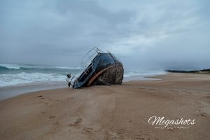 French registerd Yacht Nirvelli washed up in Wooli, Australia