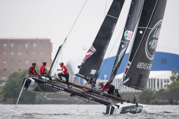 Land Rover BAR on the water Extreme Sailing Series Cardiff 2016