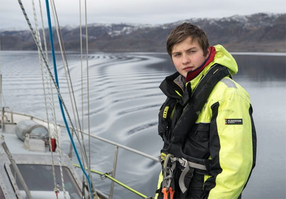 Ben Edwards who has completed the circumnavigation of the Arctic in one season