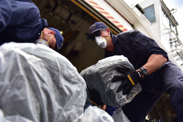 US Coast Guard unload 21 tonnes of cocaine
