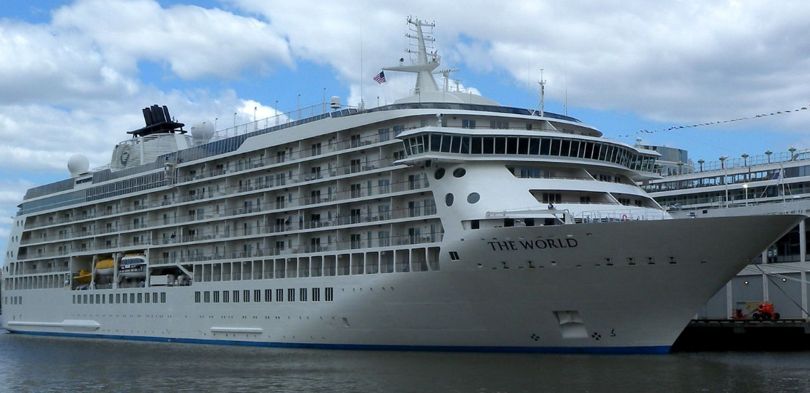 Ms the world arrives in london ybw for Round the world cruise 2016