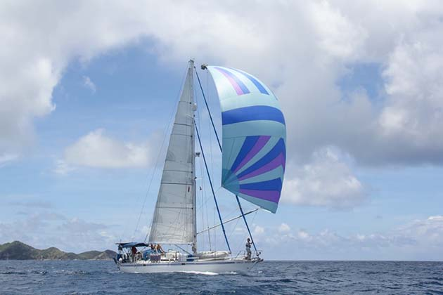 Chris and Fiona Jones sailing the BVIs