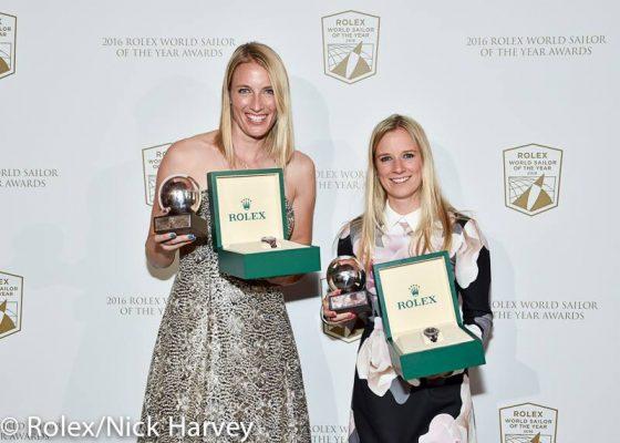 Hannah Mills and Saskia Clark take 2016 Rolex Worlld Sailor of the Year Award