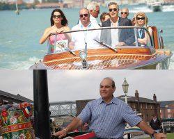 Celebrity sailors George Clooney and David Suchet
