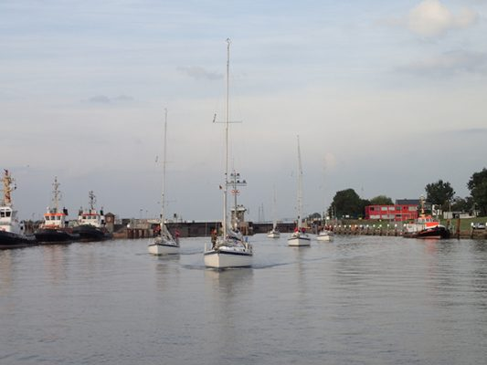 British Kiel Yacht Club boats leave Germany for the UK