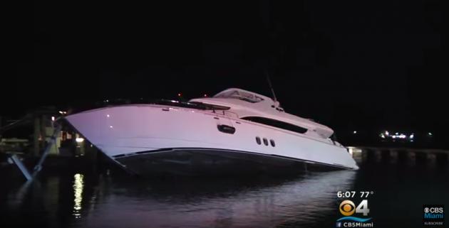 Stolen yacht crash at Miami Beach Marina