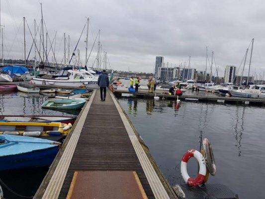 Three men treated for suspected carbon monoxide poisoning on their motorboat at Cardiff Yacht Club