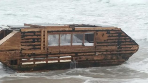 Ghost ship from Newfoundland washed up on the shore on Ireland