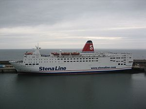 Stena Europe forced to spend a night in Irish Sea because of bad weather