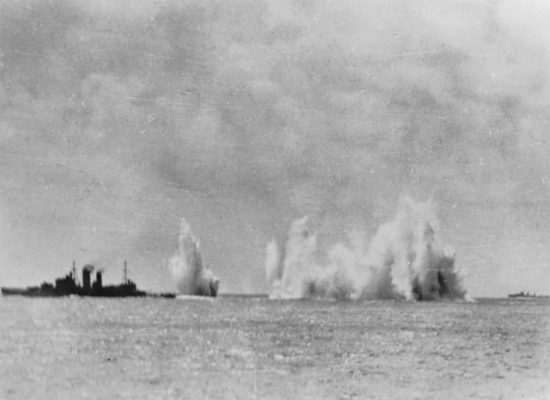 Battle of the Java Sea - HMS Exeter under attack