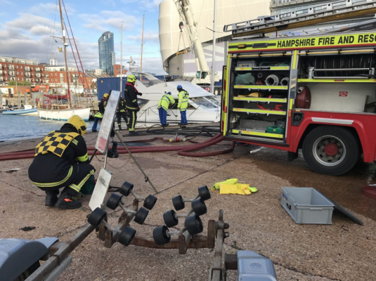 GAFIRS respond to boat fire in The Solent