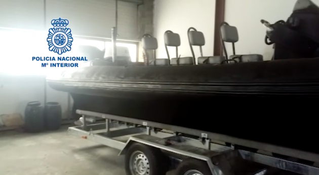 high speed RIB used for drug trafficking in Spain
