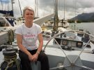 Whitbread Round the World Yacht, Maiden, in the Seychelles is reunited with Tracy Edwards