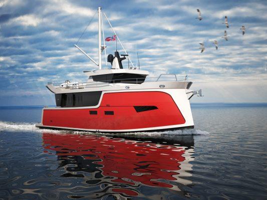 trawler on water