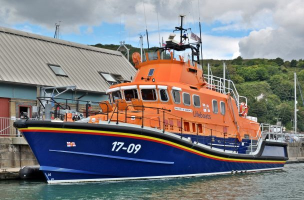 Dover RNLI's Severn class all-weather lifeboat the City of London II in Kent
