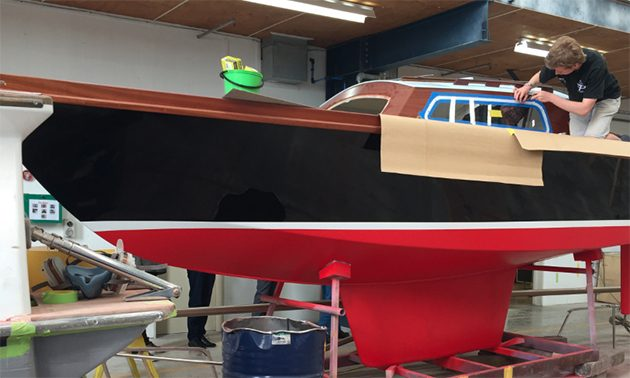 yacht being restored