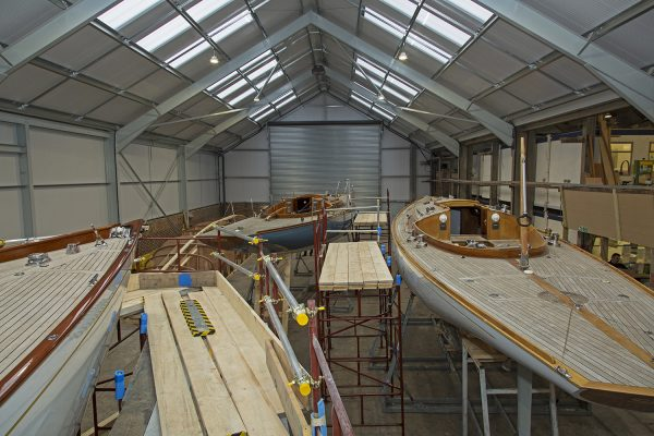 Boat building yard