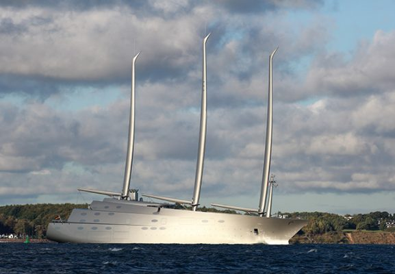 Sailing Yacht A undergoing sea trials