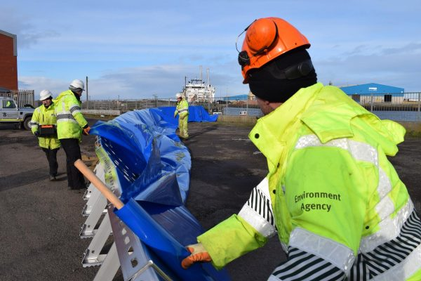 Workers from EA prepare for storm surge