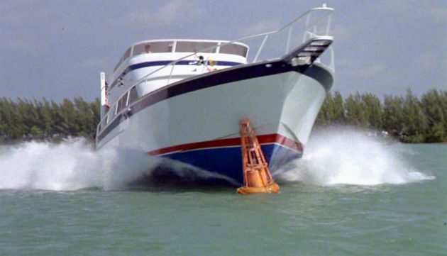 The motor yacht from Caddyshack