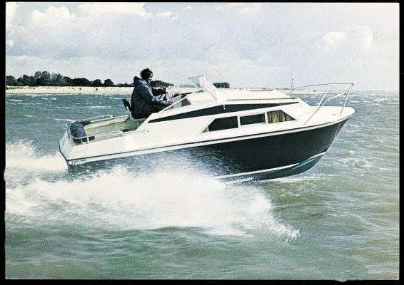 Fairline yacht at sea