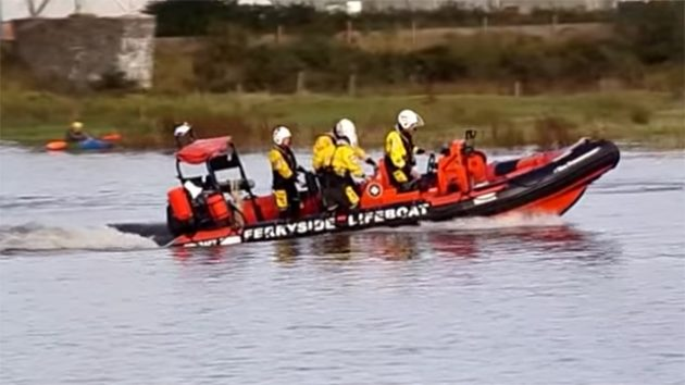 The independent lifeboat at Ferryside