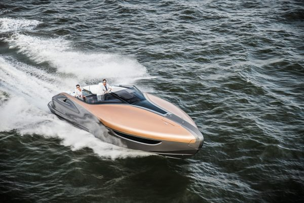 Motor yacht being put through its paces