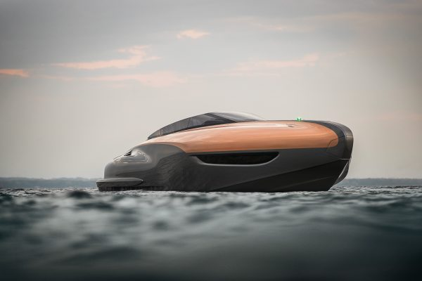 Sport yacht on the water
