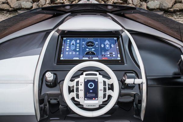 a motor yacht console