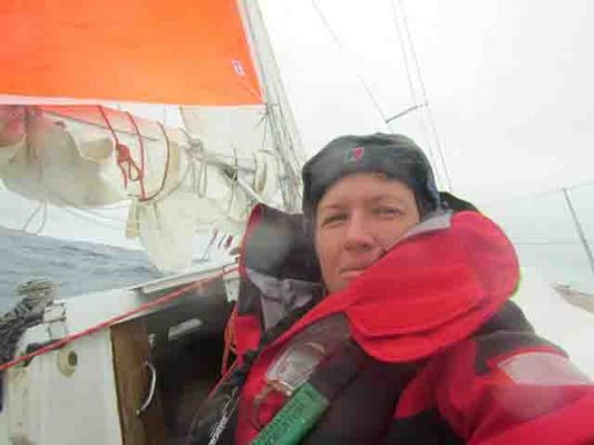 Lisa Blair who is attempting to be the first woman to circumnavigate the Antarctic
