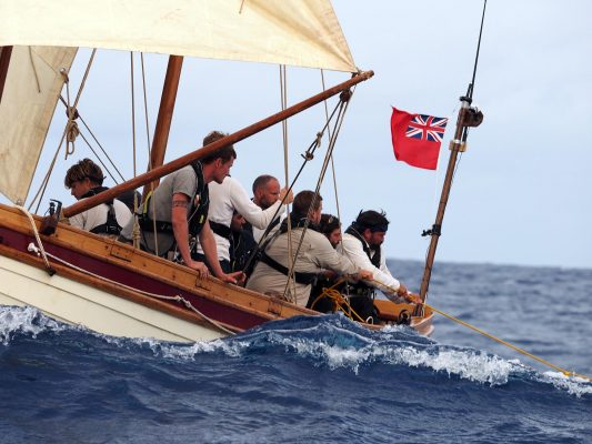 A still from the Channel 4 series Mutiny which will recreate Capt Bligh's famous journey