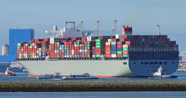 The container ship Manhattan Bridge in June 2016