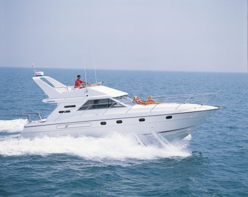 Fairline yacht on the water