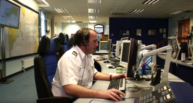 The UK Coastguard operations centre at Falmouth