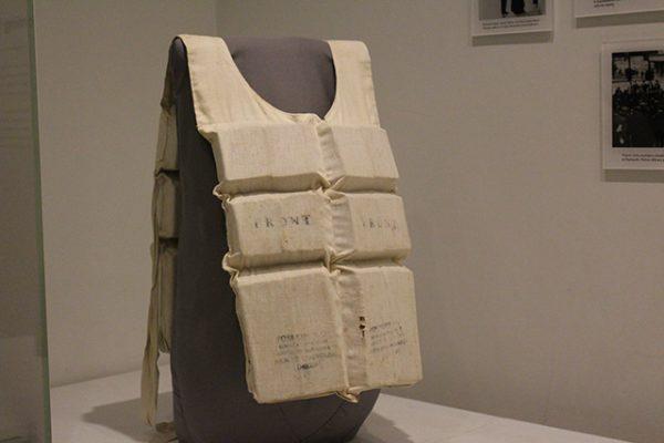 A Titanic lifejacket