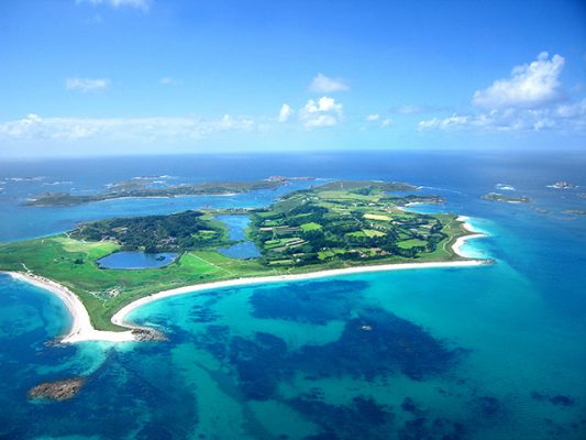 Tresco makes up part of the Isles of Scilly