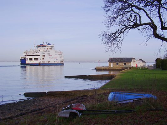 The Wightlink Ferry leaves Fishguard