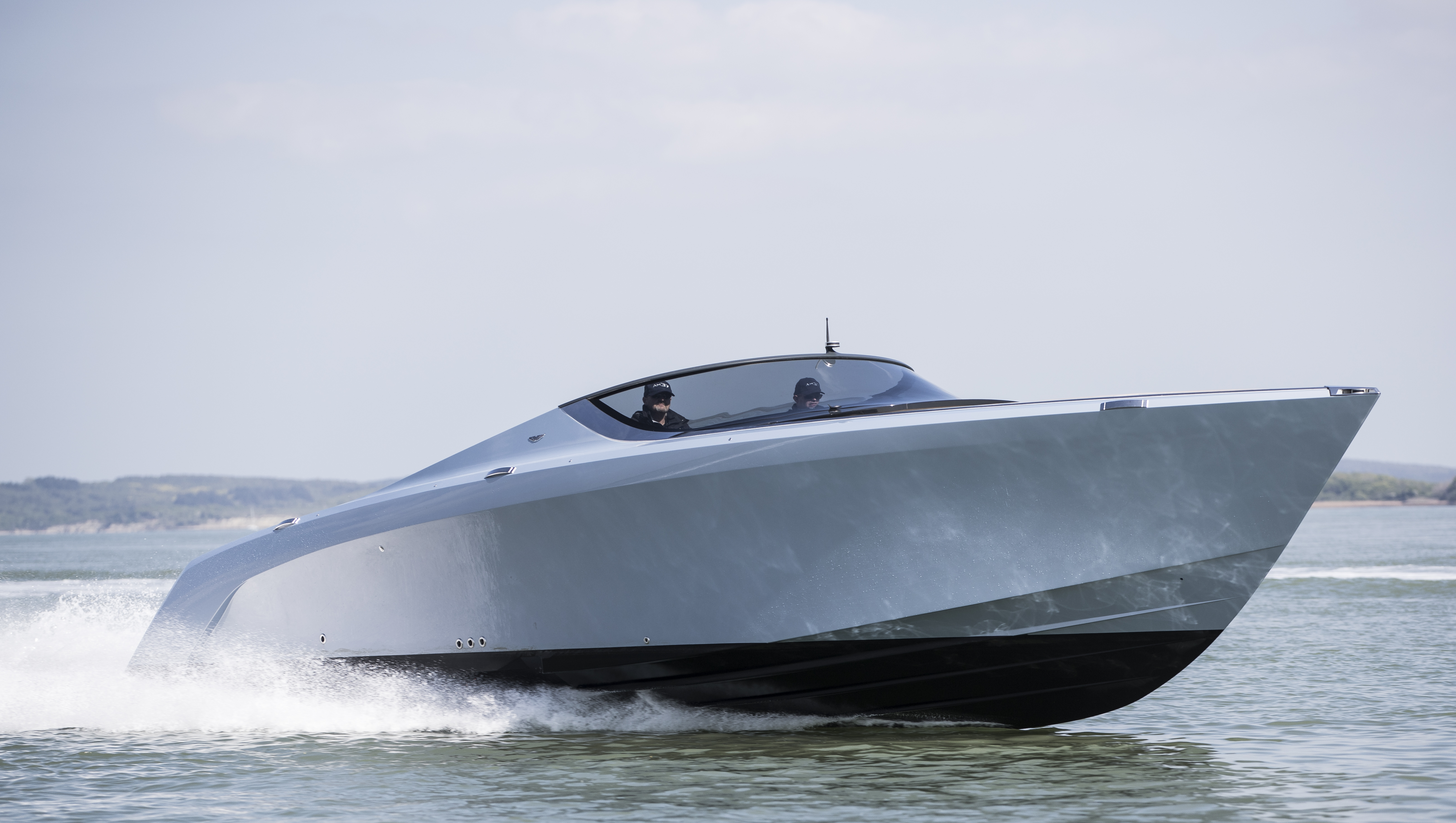 Pictures: First Aston Martin AM37 hull is delivered - YBW