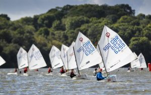 Youngsters sailing Optimist dinghies
